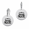 Old Dominion Monarchs Round CZ Cluster Earrings