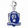 Old Dominion Monarchs Silver Logo and School Color Drop Charm