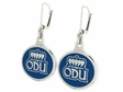 Old Dominion Monarchs Silver Enamel Earrings