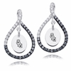 Old Dominion The Monarchs  Black and White Figure 8 Earrings