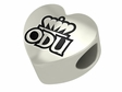 Old Dominion Monarchs Heart Shape Bead