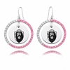 Old Dominion Monarchs Pink CZ Circle Earrings