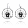 Old Dominion The Monarchs  White CZ Circle Earrings