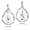 Old Dominion The Monarchs White CZ Figure 8 Earrings