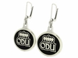 Old Dominion University Black Enamel Earrings