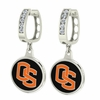 Oregon State Beavers CZ Hoop Earrings