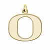 Oregon Ducks 14K Yellow Gold Natural Finish Cut Out Logo Charm