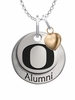 Oregon Ducks Alumni Necklace with Heart Accent