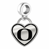 Oregon Ducks Border Heart Dangle Charm
