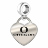 Oregon Engraved Heart Dangle Charm