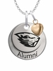 Oregon State Beavers Alumni Necklace with Heart Accent