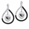 Oregon State Beavers Black and White Figure 8 Earrings