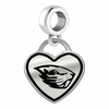 Oregon State Beavers Border Heart Dangle Charm