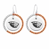 Oregon State Beavers Color CZ Circle Earrings