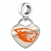 Oregon State Beavers Color Heart Dangle