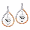 Oregon State Beavers Colored CZ Figure 8 Earrings