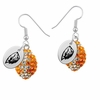 Oregon State Beavers Crystal Football Earrings