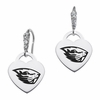 Oregon State Beavers CZ Cluster Heart Earrings