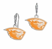 Oregon State Beavers CZ Logo Earrings