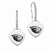 Oregon State Beavers Dangle Heart CZ Earring