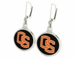 Oregon State Beavers Silver Enamel Earrings