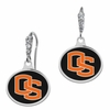 Oregon State Beavers Enamel CZ Cluster Earrings