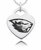 Oregon State Beavers Heart Charm