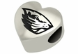 Oregon State Beavers Heart Shape Bead