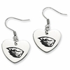 Oregon State Beavers Heart Earrings