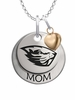 Oregon State Beavers MOM Necklace with Heart Charm