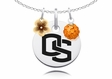 Oregon State Beavers Necklace with Flower Charm