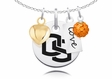Oregon State Beavers Necklace With Heart, Color and Love