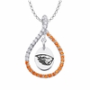 Oregon State Beavers Orange CZ Figure 8 Necklace