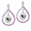 Oregon State Beavers Pink CZ Figure 8 Earrings