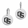 Oregon State Beavers Round CZ Cluster Earrings