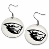Oregon State Beavers Satin Finished Disc Earrings