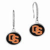 Oregon State Beavers Sterling Silver and CZ Drop Earrings