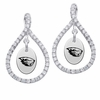 Oregon State Beavers White CZ Figure 8 Earrings