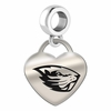 Oregon State Engraved Heart Dangle Charm