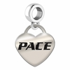 Pace Engraved Heart Dangle Charm