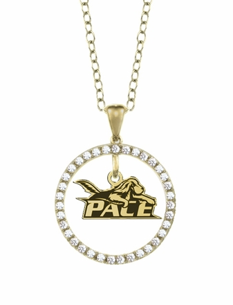 Pace Setter Gold and Diamond Circle Pendant