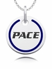 Pace Setter Round Enamel Charm