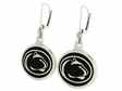 Penn State Black Enamel Earrings