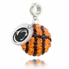 Penn State Crystal Drop Charm