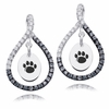 Penn State Nittany Lions Black and White Figure 8 Earrings