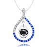 Penn State Nittany Lions Blue CZ Figure 8 Necklace