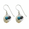 Penn State Nittany Lions Color and Freshwater Pearl Earrings