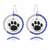 Penn State Nittany Lions Color CZ Circle Earrings