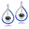 Penn State Nittany Lions Colored CZ Figure 8 Earrings