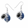 Penn State Nittany Lions Crystal Football Earrings